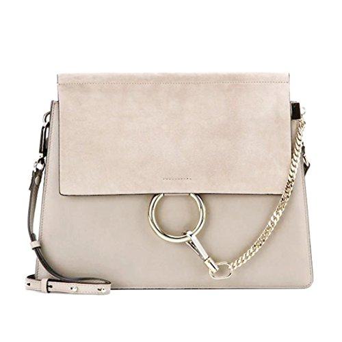 Leder Flap Shoulder Bag (ACTLURE Women Genuine Leather Crossbody Shoulder Purse Chain Link FY Bag)