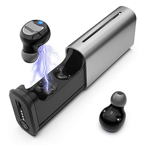 Auricolari Bluetooth 5.0, Auricolari Bluetooth senza Fili per iPhone Huawei Samsung, Auricolari Bluetooth Sport con Caso di Carica, Controllo Tattile, Tempo di Riproduzione Totale Fino a 18 O