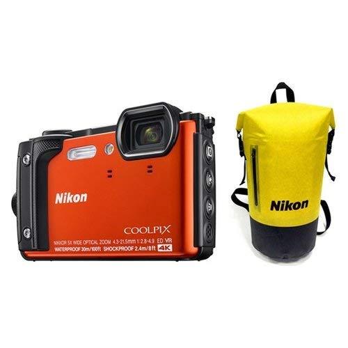 Nikon-COOLPIX W300Sensor CMOS 16MPX Zoom Optische 5x Video 4K WLAN Bluetooth + Rucksack-orange (Nikon Coolpix Cmos)