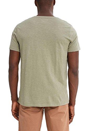 ESPRIT Herren T-Shirt Grün (Light Khaki 345)