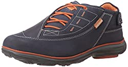Redchief Mens Navy Blue Leather Trekking and Hiking Footwear Shoes - 8 UK/India (42 EU) (RC2891)