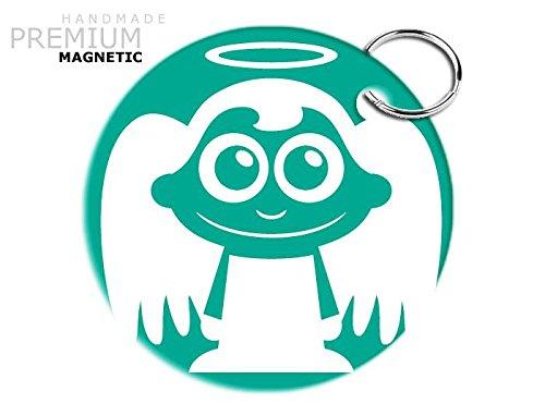 Preisvergleich Produktbild JCM bezaubernde Engel Schlüsselanhänger, magnetisch, Aquamarin