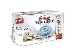 UniBond Aero 360° Moisture Absorber Neutral Refill tabs pack of 1 / 4 x 450g