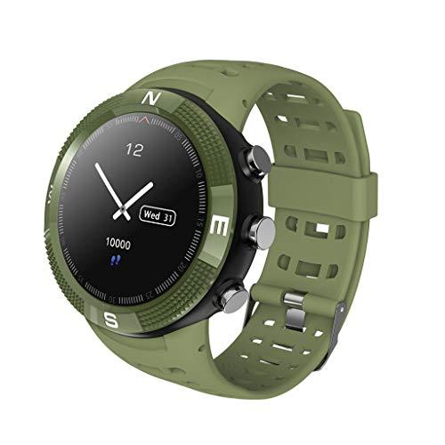 ZHAOZNB Fitness Tracker Abnehmen Aktivität Tracker Mit Schlaf-Monitor Schrittzähler IP67 wasserdichte Smart Bracet Pedometer Herren Damen und Kinder Smart Watches (Color : Green)