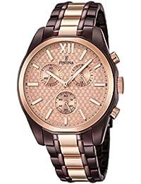 Festina Unisex-Armbanduhr Chronograph Quarz Edelstahl beschichtet F16858/1