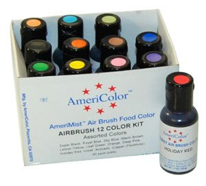 AmeriColor AmeriMist Airbrush-Set, 12 Flaschen à 0,65 ml -