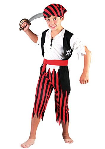 Fiori Paolo Corsaro Costume per Bambini, Rosso, L (7-9 anni), 61207.L