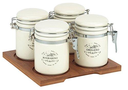 Tognana Campanie Sweet Home Lot de boîtes à épices Blanc
