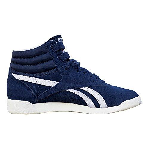 Reebok Damen Schuhe / Sneaker Freestyle HI blau 38.5 (Reebok Freestyle Hi)