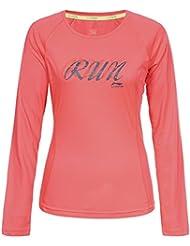 Li-Ning Mujer Camiseta Jetta, otoño/invierno, mujer, color rosa, tamaño XL