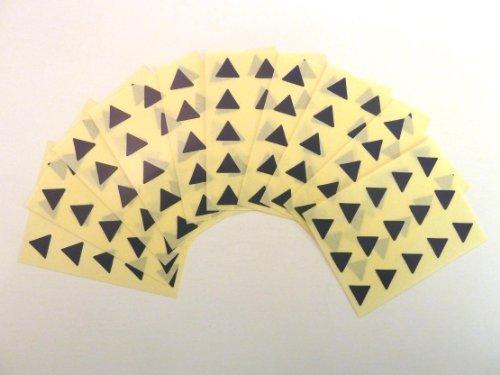 150 Etiquetas , 10mm Triángulo , Azul Marino , Código De color Pegatinas , autoadhesivo Adhesivo de color etiquetas