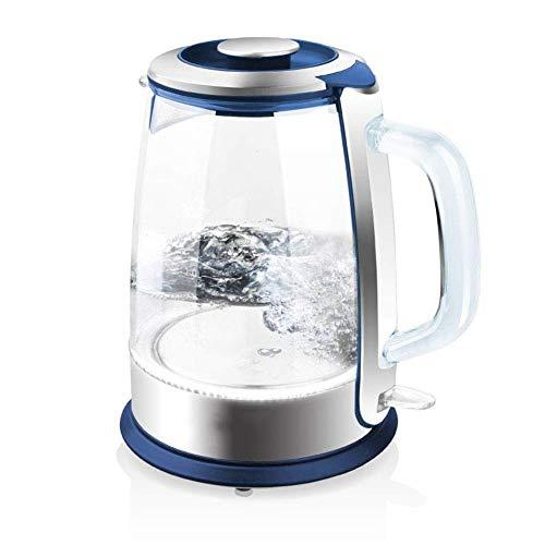 ZSQHD Hervidor eléctrico - Hervidor de té de vidrio (1.5L) Hervido rápido e inalámbrico, Hervidor de agua caliente con acabado de acero inoxidable - Dispensador de agua caliente - Hervidor de té de vi