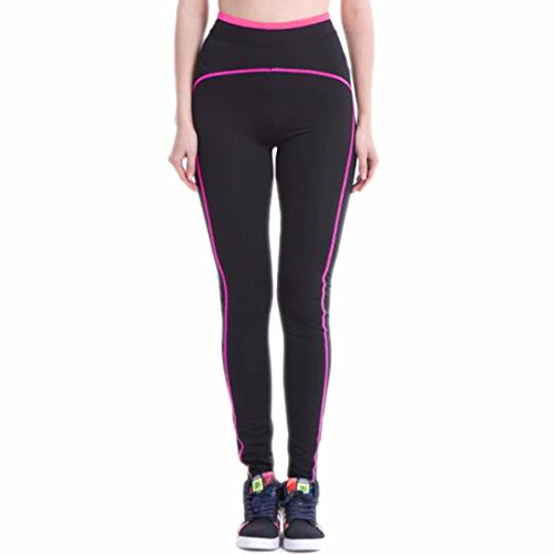 QIYUN.Z Forme Physique De Femmes Gymnase Leggings Athletique Du Sport De Jogging Pantalon Pantalon Noir Rose