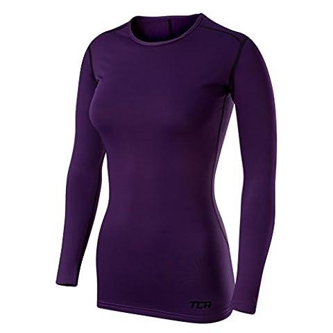 TCA T-shirt/Top Femme Sport SuperThermal Performance à manches longues, Running Training - Violet, M