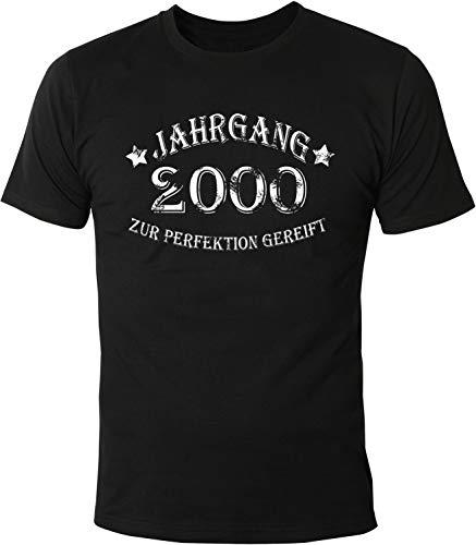 2000 Spa (Mister Merchandise Herren Men T-Shirt Jahrgang 2000 zur Perfektion gereift Aged to Perfection Geburtsjahr Tee Shirt Bedruckt Schwarz, M)