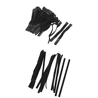 MagiDeal Klettverschluss Kabelbinder Nylon Strap Wiederverwendbar Klettbänder, 2 Verschiedene Größen, Um die Kabel organisiert und ordentlich zu Halten (80 Stk. + 50 Stk.)