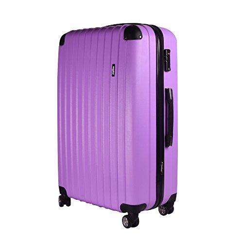Sunydeal Custodia rigida Estremamente leggero ABS valigia carrello con TSA