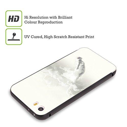 Ufficiale Lacabezaenlasnubes Fiori Surreale Nero Cover Contorno con Bumper in Alluminio per Apple iPhone 5 / 5s / SE Tuffo Nel Cielo