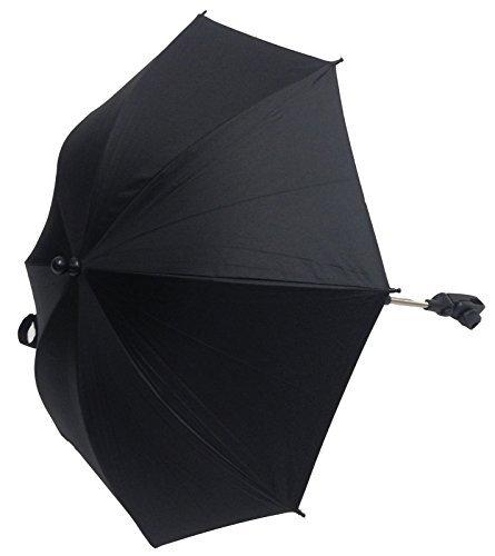 Schwarzer Sonnenschirm für Kinderwägen, kompatibel mit Silver Cross, Wayfarer, Reflex und Pop