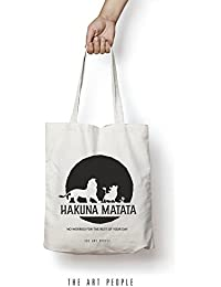Hakuna Matata Tote Bag Reusable Grocery Bag Machine Washable Canvas Shopping Bags With Long Handy Straps – Eco...