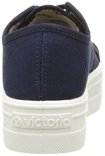VictoriaBasket Lona Plataf. - Scarpe con zeppa in tela Unisex – Adulto Blu (30 Marino)