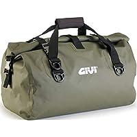 Bolso cilíndrico, Impermeable, para Asiento de Motocicleta, de Givie (EA115KG), Capacidad de 40 litros, Color Verde