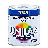 Titan M3560 - Esmalte al agua unilak mate blanco 750 ml