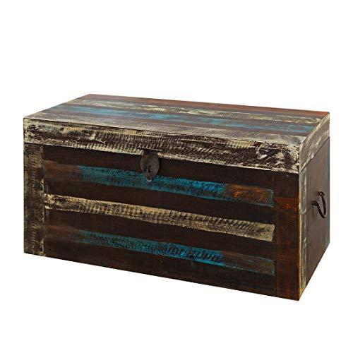 GOA 3523 Truhe, Holz, 40 x 80 x 40 cm, bunt