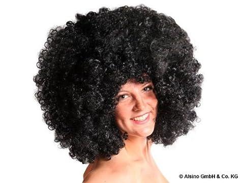 Perruque Méga XXL Funky afro noir Party pour adulte coupe disco afro avec beaucoup de volume accessoire déguisement homme femme Soirées à thème disco, baba cool, années 70, funky et autres évènements