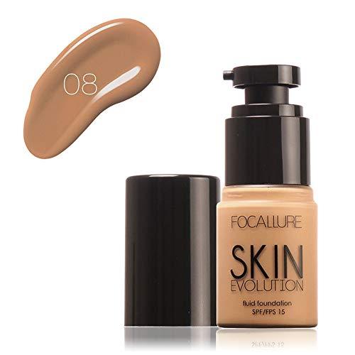 Cwemimifa Radiant Lift Concealer,FOCALLURE Face Foundation Makeup Base Flüssiger Concealer Feuchtigkeitscreme Ölkontrolle,8# - Reparatur Bb Creme