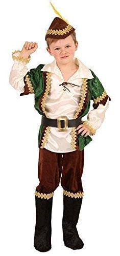 Komplett Kostüm ROBIN aus dem Wald Gr. 140 - Wald Prinz Kostüm