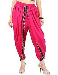 Khazana Basics Women's Pink Color Rayon Dhoti Pant (JTDH45, Pink)