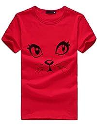 1cf85736f LHWY Tops y Blusas Camisas Camisetas sin Mangas Mujeres Niñas Tallas  Grandes Imprimir Camiseta Camisa de