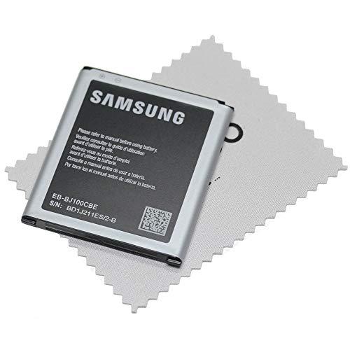 Akku für Samsung Original für Samsung Galaxy J1 (J100F) 1850mAh EB BJ100CBE mit mungoo Displayputztzuch