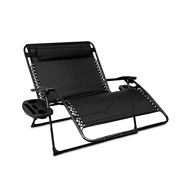 LIVIVO Love Seat Style Zero Gravity Lounger for 2 People