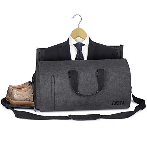 S-ZONE Faltbare Reisetasche 2 in 1 Convertible Suit Seesack Unisex Handgepäck Sporttasche für Reise am Wochenend Urlaub Zone Splitter
