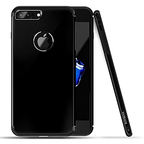 iPhone 7 plus Case, Roybens [Textured Metal] and TPU Hybrid Design Slim Fit Protective Dual (Finitura A Polvere Nera)
