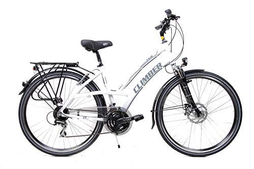 28 Zoll Alu Damen Trekking Bike Fahrrad Shimano 24 G. Scheibenbremse Nabendynamo*