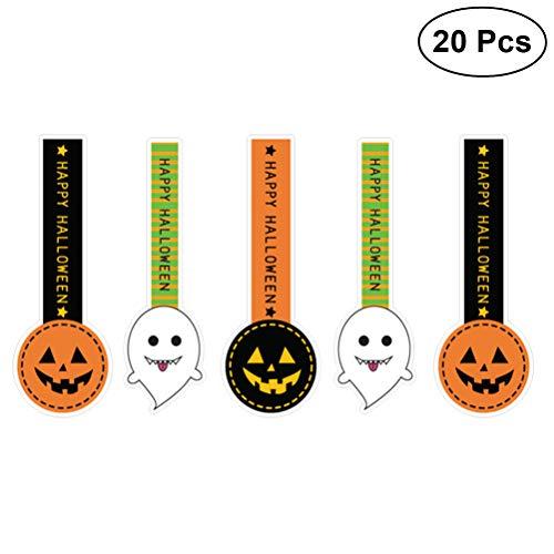 BESTOYARD Halloween Sealing Aufkleber Gefälligkeiten Geschenk Tasche Leckereien Tasche Backen Aufkleber für Süßigkeiten Cookie Keks Schokolade Taschen Boxen 100 stücke