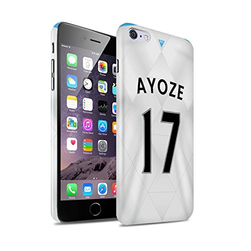 Offiziell Newcastle United FC Hülle / Glanz Snap-On Case für Apple iPhone 6S+/Plus / Pack 29pcs Muster / NUFC Trikot Away 15/16 Kollektion Ayoze