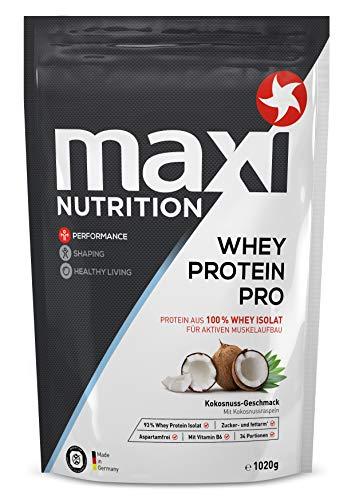 MaxiNutrition Whey Protein Pro Kokos - Eiweißpulver für den Muskelaufbau nach dem Training - 1 x 1020 g Packung Protein Shake mit Kokosnuss Geschmack