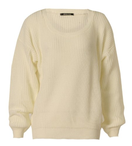 Damen Grob Gestrickte Ausgebeult Pullover Über Größe (Strickjacke Gestrickt Drop-schulter)