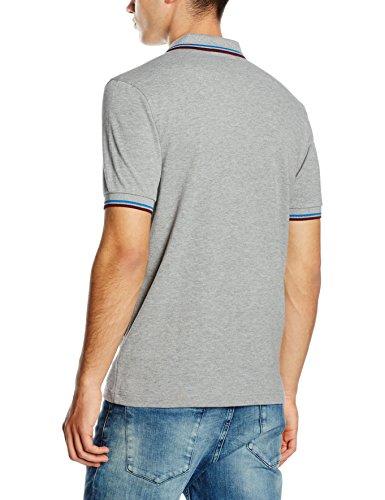 Fred Perry Herren Poloshirt M3600-c90 mehrfarbig (Steel Marl / Atlantic / Mahogany)