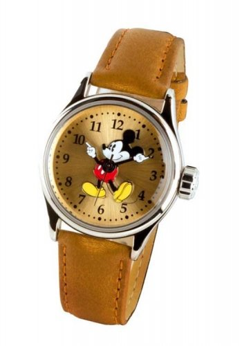 Disney Classic By Ingersoll Ladies Watch 25640 with Sunray Dial and Brown Strap