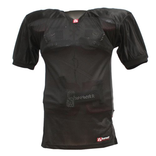FJ-2 American Football Trikot, Match, Gr. XL, schwarz