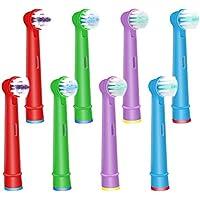[Sponsorisé]Wuyan pour Oral B Tête de brosse à dents électrique pour enfants pour enfants, têtes de brosse à dents de remplacem