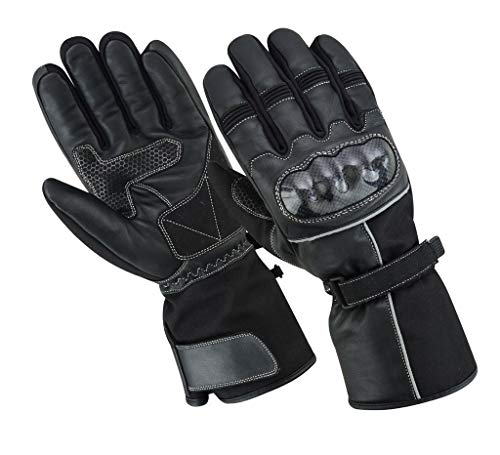Sonic Racewear Thinsulate - Guanti termici per moto, in pelle, impermeabili, estiv