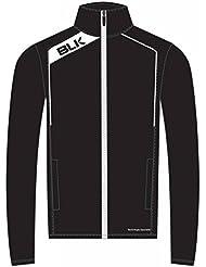 BLK Rugby Veste de survêtement Noir/Blanc