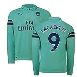 2018-2019 Arsenal Puma Third Long Sleeve Football Soccer T-Shirt Trikot (Alexandre Lacazette 9)