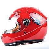 ZXW Casco- Casco eléctrico para niños, ciclomotor, niño y niña, Adecuado para niños de 6 a 10 años (Color : Red)